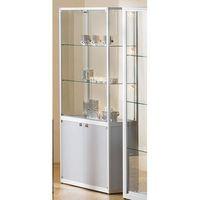 Witryna ze schowkiem, 2 drzwi przesuwnych, wys. x szer. x głęb. 2000x1500x400 mm marki Unbekannt