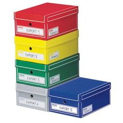 pudło archiwizacyjne z pokrywą storebox 350x255x155mm mix 5 kolorów, 20 sztuk marki Pressel