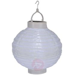 Modny solarny lampion LED Jumor, biały, Ø 30 cm