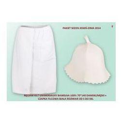 Kilt Ręcznik 70*140cm 100% Bawełna + Czapka biała do sauny E, C512-61190