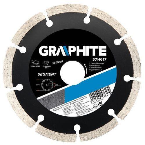 Tarcza do cięcia GRAPHITE 57H617 125 x 22.2 mm diamentowa segmentowa - produkt z kategorii- tarcze do cięcia