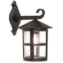 Zewnętrzna lampa ścienna hereford bl21/g klasyczny kinkiet metalowa oprawa ogrodowa ip43 outdoor czarna mark