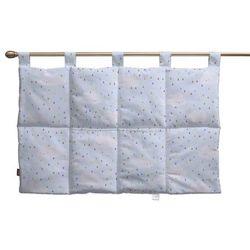 wezgłowie na szelkach, białe chmurki na błękitnym tle, 90 x 67 cm, apanona marki Dekoria