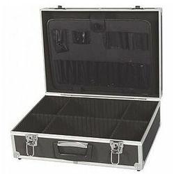 walizka narzędziowa z aluminiową ramą - 455 x 330 x 152 mm - czarna marki Perel
