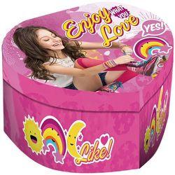 Soy Luna, szkatułka z pozytywką, serce - produkt z kategorii- Pozostałe artykuły szkolne i plastyczne
