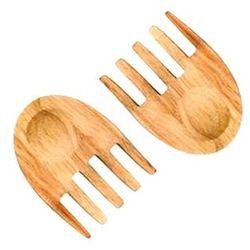 Drewniane łapki do serwowania sałaty oval oak marki Sagaform