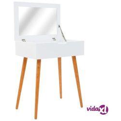 vidaXL Toaletka z lustrem, MDF, 60 x 40 x 75 cm