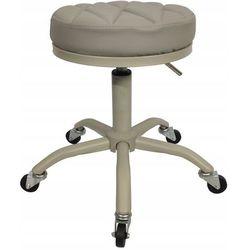 Krzesło taboret kosmetyczny fryzjerski hoker pufa Szary