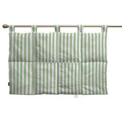 Dekoria  wezgłowie na szelkach, zielono białe pasy (1,5cm), 90 x 67 cm, quadro