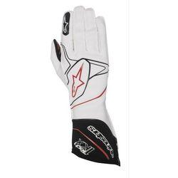 Rękawice kartingowe Alpinestars Tech 1-KX - Biało / Czarno / Czerwony \ XL - produkt z kategorii- Rękawice
