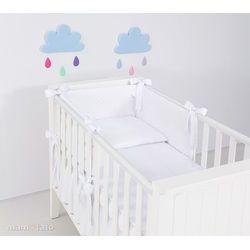 pościel 2-el śnieżno-biała do łóżeczka 60x120cm marki Mamo-tato