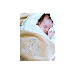 Baby ręcznik fartuch, niebiesko-biały (5060159120016)