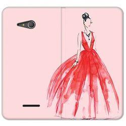 Flex book fantastic - sony xperia e4g - etui na telefon flex book fantastic - czerwona suknia od producenta Et