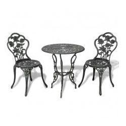 Stolik i 2 krzesła ogrodowe, żeliwne