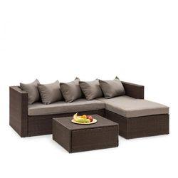 Blumfeldt Theia Lounge ogrodowy zestaw wypoczynkowy brązowy / brązowy