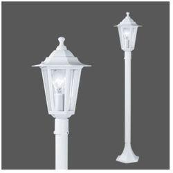 Zewnętrzna lampa stojąca laterna 5 22995  ogrodowy słupek aluminiowa oprawa ip33 outdoor biała od producenta Eglo