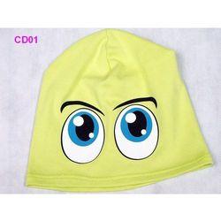Czapka Dziecięca Bawełna Oczy beanie krasnal ciamajda - CD01, towar z kategorii: Czapki i nakrycia głowy dl