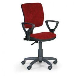 B2b partner Krzesło biurowe milano ii z podłokietnikami - czerwone