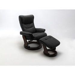Relaksacyjny fotel niagara - czarny ||brązowy marki Fato luxmeble