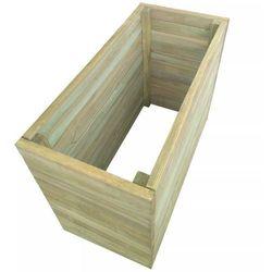 Skrzynia ogrodowa z impregnowanego drewna, 100x50x77 cm marki Vidaxl