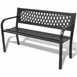 Metalowa ławka ogrodowa cald - czarna marki Producent: elior