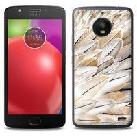 Foto Case - Motorola Moto E4 - etui na telefon Foto Case - białe pióra, kolor biały
