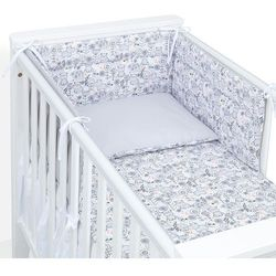 Mamo-tato ochraniacz do łóżeczka 60x120 hipcie / szary