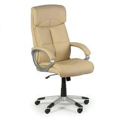 Foster skórzane krzesło biurowe, beżowe marki B2b partner