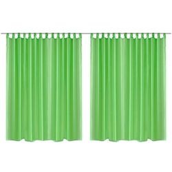prosta zasłona 290 x 245 cm x2 zielona marki Vidaxl