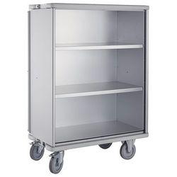 Aluminiowy wózek szafkowy, poj. 875 l, 2 półki dodatkowe. Rama ekranująca dookoł