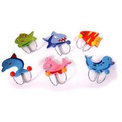 Wieszaki na ubrania dla dzieci mieszkańcy oceanów (6 sztuk) marki Small foot design