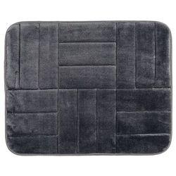 Dywanik łazienkowy z pianką pamięciową Kwadraty czarny, 40 x 50 cm, 40 x 50 cm