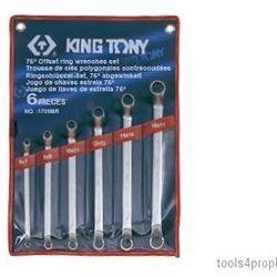 Zestaw kluczy oczkowych odgiętych 75° 6cz. 6 - 17mm 1706mr marki King tony
