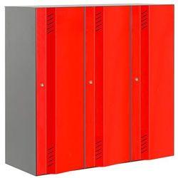 Potrójna sekcja szafy CREATE ENERGY 1200x1200x500mm. Drzwi czerwone