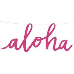 Hawajski baner aloha na żyłce - 19 x 47 cm - 1 szt. marki Ap