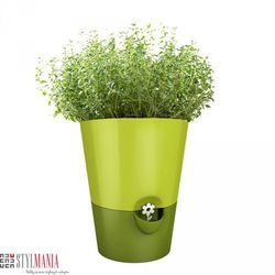 Doniczka na zioła EMSA Fresh Herbs zielona EM-514247 (doniczka i podstawka)