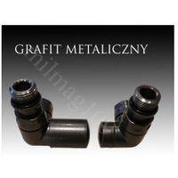 Mera term Zestaw zaworów grzejnikowych vision lewy grafit metaliczny