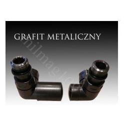 Zestaw zaworów grzejnikowych VISION lewy GRAFIT METALICZNY (zawór i głowica ogrzewania)