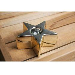 Giardino / home-akcesoria kuchenne Giardino home świecznik ceramiczny gwiazdka złota