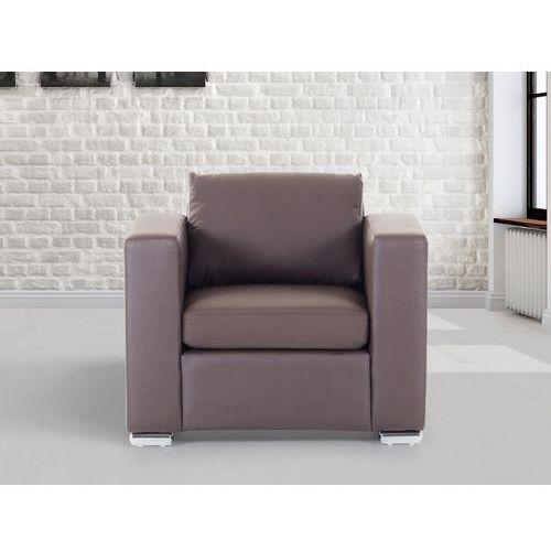 Skórzany fotel brazowy - sofa - HELSINKI, produkt marki Beliani