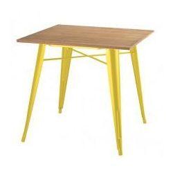 Stół TOWER WOOD żółty - blat jesion/metal, GT-236U.YE.JES (7812729)
