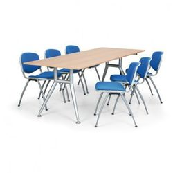 B2b partner Stół konferencyjny, brzoza, 2200x820 mm