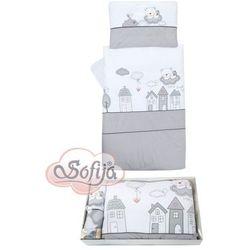 Sofija 5-elementowy zestaw pościeli muffi szaro-biały