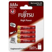 Fujitsu 4 x bateria alkaliczna  high power lr03 aaa blister