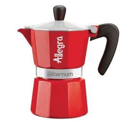 Kawiarka BIALETTI Allegra 3 TZ Czerwony - produkt z kategorii- Zaparzacze i kawiarki