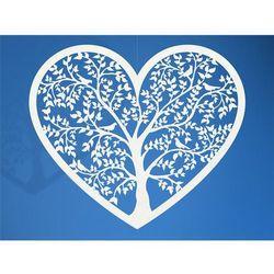 Dekoracje papierowe Serce 13,5 x 11,5cm Ślub Wesel