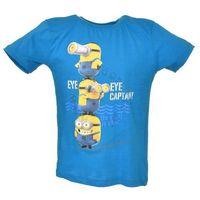 Licencja - inne T-shirt z wizerunkiem bohaterów bajki minionki - niebieski