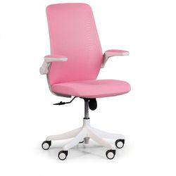 Krzesło biurowe z siatkowanym oparciem butterfly, różowa marki B2b partner