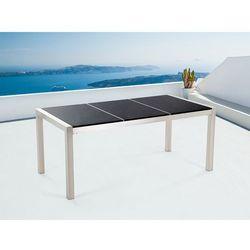 Stół czarny polerowany 180cm - kamienny blat - dzielona płyta - grosseto marki Beliani