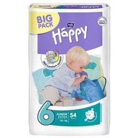Tzmo s.a. Pieluszki jednorazowe happy junior extra (6) 16+ kg - 54 szt. big pack